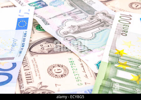 Colorful world paper money background  High resolution photo
