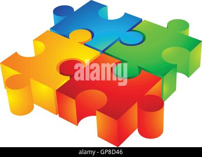 Piece of Red jigsaw puzzle icon for Business idea graphic design
