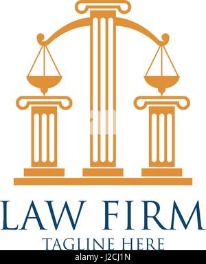 law firm logo with text space for your slogan tagline, vector