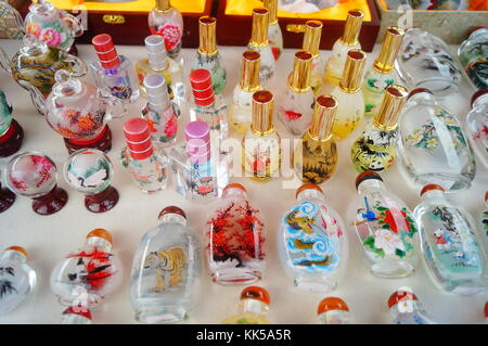 Chinese feature crafts snuff bottles Stock Photo: 166689037