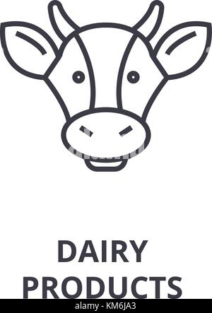 Black Dairy Products - Food and Drink icons - vector icon