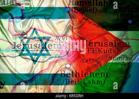 Jerusalem on a map with flags of Israel and Palestine ... on gang map, fat map, central european time zone map, super map, de map, nd map, car map, old map, un map, mis map, spain and portugal map, n dakota state map, bogota on map, union map, uno map, unr map, red map, umd map, fun map, war map,