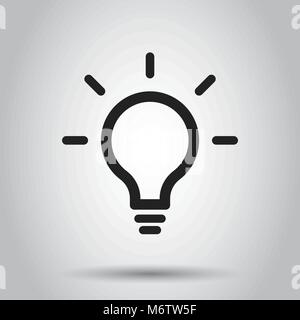 Light Bulb line icon vector  Idea sign, solution, thinking