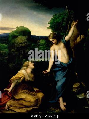 Noli me tangere´, painting by Correggio Stock Photo