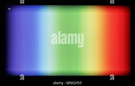 Test pattern of color television lines on the no name modern tablet