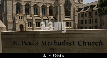 St  Paul's United Methodist Church, in Houston, Texas Stock