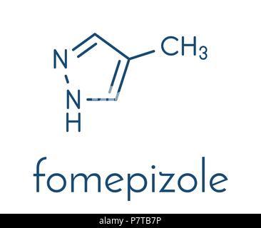 Fomepizole methanol poisoning antidote molecule  Blue