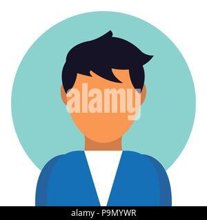Profile icon vector male user person avatar in flat color glyph