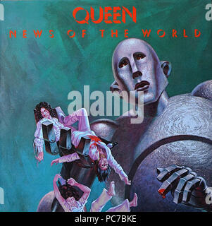 QUEEN - NEWS OF THE WORLD - Vintage cover album Stock Photo