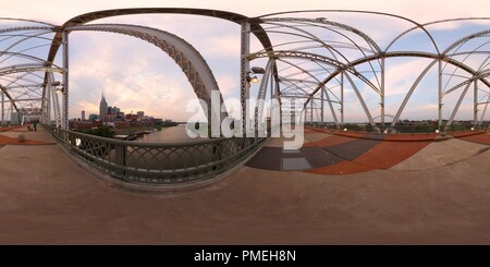 360 View of Nashville, Tennessee from Shelby Street Bridge