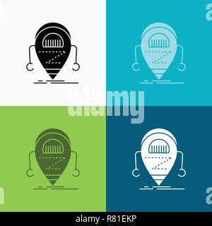cartoon cute robot icon over white background, vector