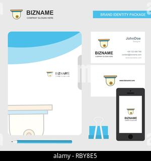 CCTV camera Business Logo, File Cover Visiting Card and