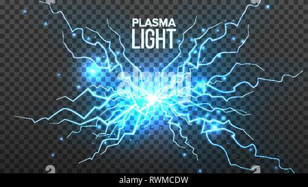 Fireball Plasma Vector  Lightning Effect  Magic Explosion  Voltage