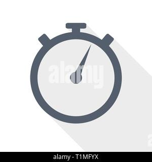 Stopwatch stop watch timer flat icon for apps and websites Stock