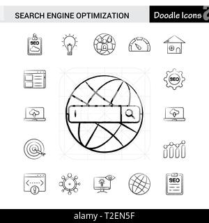 Search Engine Optimization Icon with Hand drawn Style, good