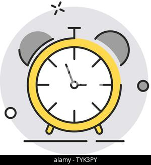Vector simple classic clock icon without numbers Stock