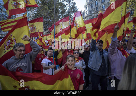 532ab629c1a Spaniards show support for central government during a huge pro ...