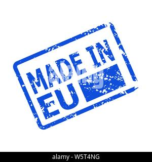 Welp Made in EU Europe - Guarantee label with a waving flag of European CA-18