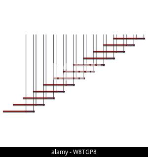 Vector cartoon illustration of a wooden staircase Stock