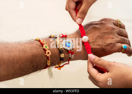 Raksha bandhan concept - A traditional Indian wrist band