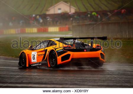 McLaren MP4 12C GT3 racing at the FIA GT, Nogaro, Midi