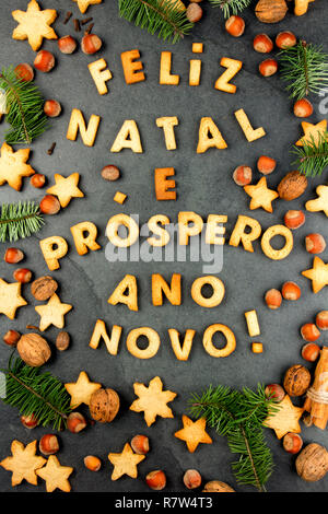 Feliz Navidad En Portugues Brasil.Feliz Natal Cookies Palabras Feliz Navidad Y Prospero Ano
